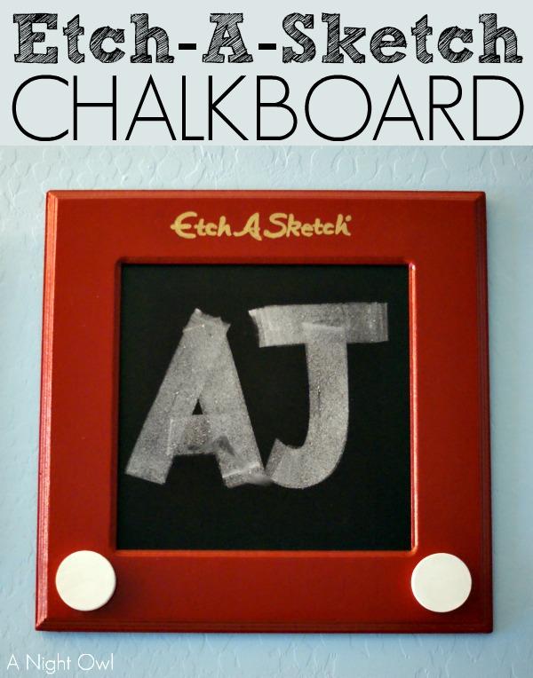 DIY Etch-A-Sketch Chalkboard | #DIY #ToyStory #Chalkboard