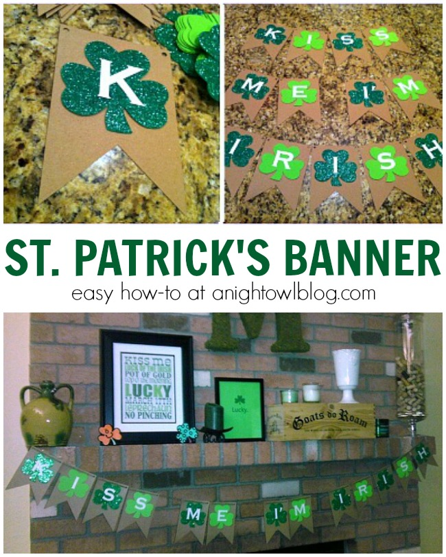 Make this easy but fun St. Patrick's Day Banner