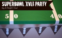 Superbowl Party by @anightowlblog