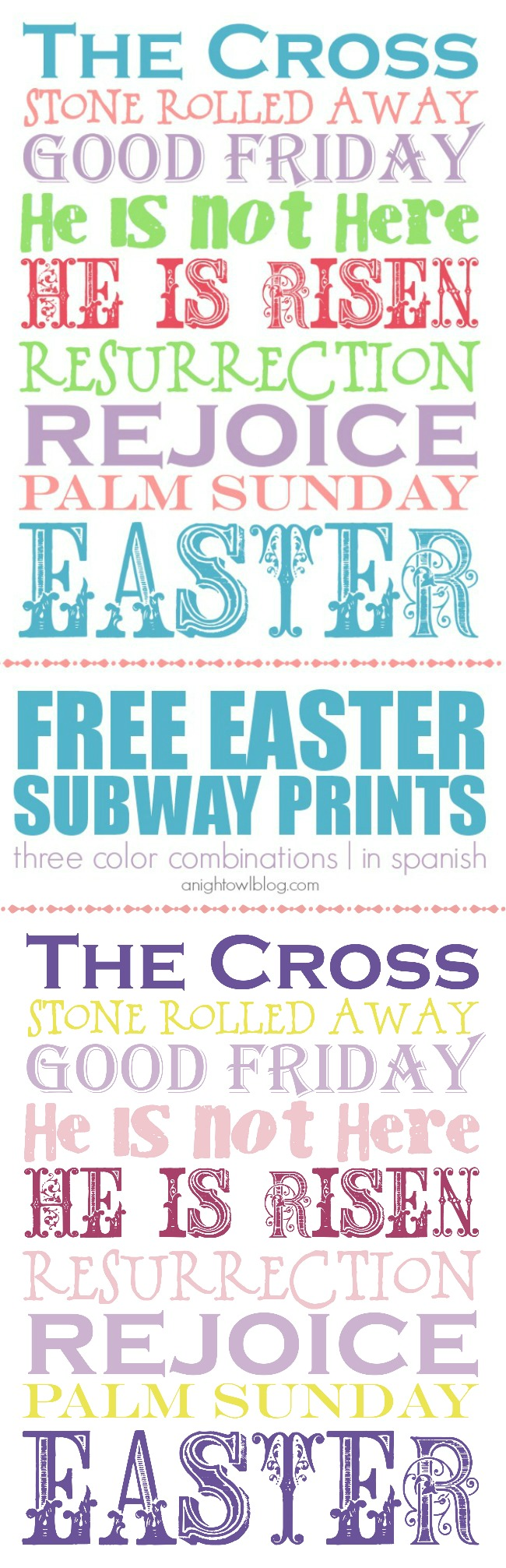 Easter Subway Printable Collection | A Night Owl Blog