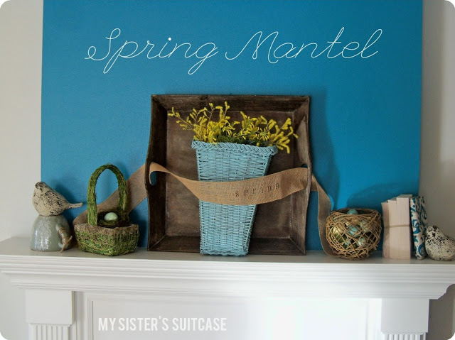 Spring Mantel by My Sister's Suitcase