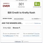 Krafty Kash Giveaway Winner!