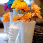 {Thrifty Thursday} Vintage Milk Glass Spring Vignette