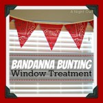 {Project Home} Bandanna Bunting Window Treatment
