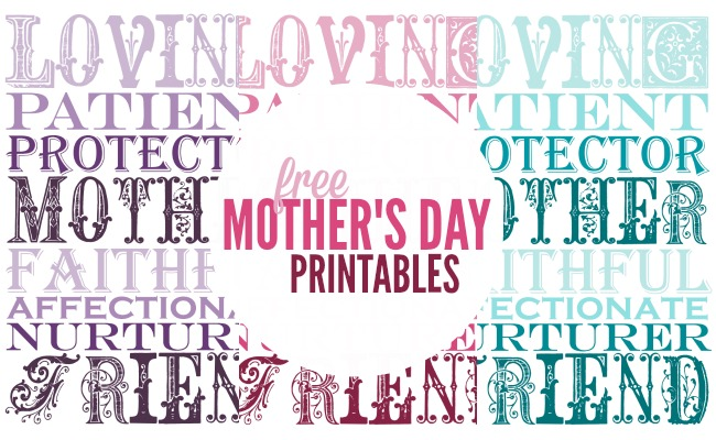 photo about Mother's Day Printable named Moms Working day Printables A Evening Owl Website