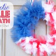 Patriotic Tulle Flag Wreath