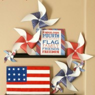 {The Great Paper Mantel Challenge} My 4th of July Mantel