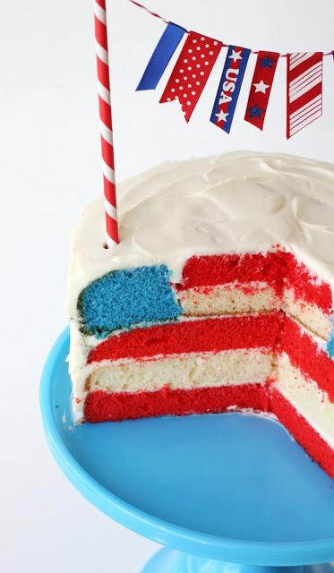 fun flag cake