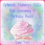 Optimistic Mommy's 3000+ Fan Giveaway
