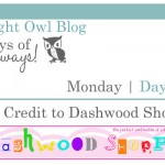 {7 Days of Giveaways} Day 2 :: Dashwood Shoppe