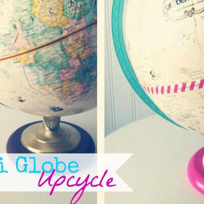 Washi Tape Globe Upcycle at @anightowlblog