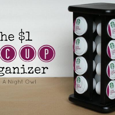 DIY Keurig K-Cup Coffee Organizer by @anightowlblog