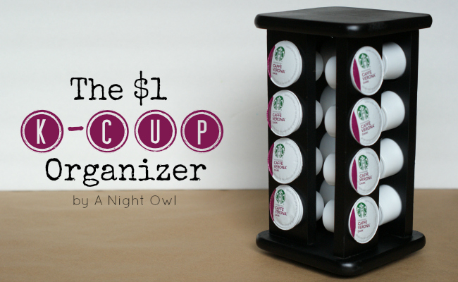 DIY Keurig K-Cup Coffee Organizer by @anightowlblog