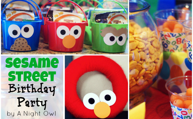 Sesame Street Birthday Party by @anightowlblog