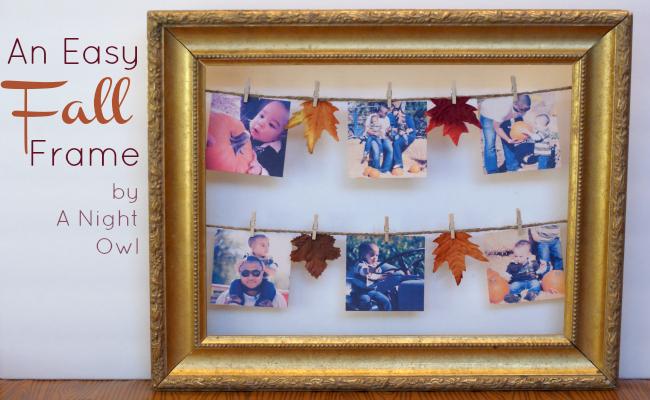 {Thifty Thursday} A Fall Frame