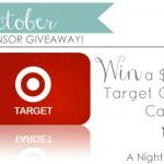 {October Sponsor Giveaway} $75 Target Gift Card