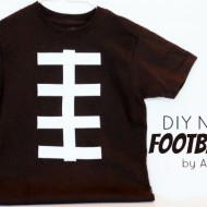 DIY No-Sew Football Tee