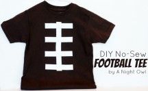 DIY No-Sew Football Tee Tutorial Feature by @anightowlblog