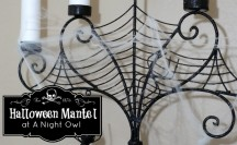 Halloween Mantel Feature @anightowlblog