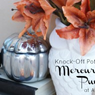 Knock-Off Pottery Barn Mercury Glass Pumpkins