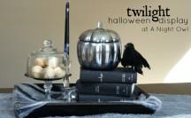 Twilight Inspired Halloween Display at @anightowlblog
