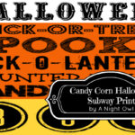 Candy Corn Halloween Subway Printable