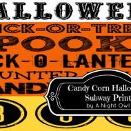 Candy Corn Halloween Subway Printable