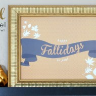 Fall Mantel + Giveaway