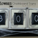 DIY Halloween Chalkboard Signs