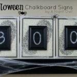 DIY Halloween Chalkboard Signs