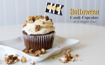 Peanut Butter Cup Cupcakes at @anightowlblog