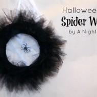 Halloween Tulle Spider Wreath