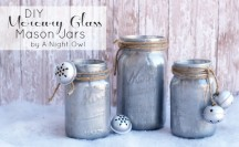 DIY Mercury Glass Mason Jars Feature at www.anightowlblog.com
