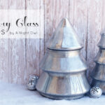 DIY Mercury Glass Christmas Trees