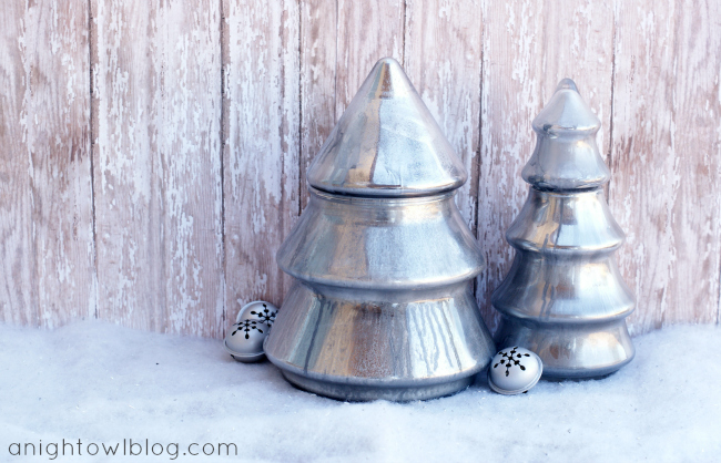 Mercury Glass Christmas Trees at anightowlblog.com | #mercuryglass #christmas
