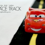 Easy No-Sew Felt Race Track