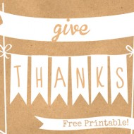 Give Thanks – Free Thanksgiving Printables