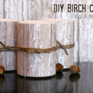 Knock-Off Pottery Barn Birch Candles