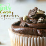 {Late Night Snack} Minty Hot Cocoa Cupcakes