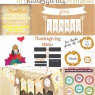 10 Thanksgiving Printables