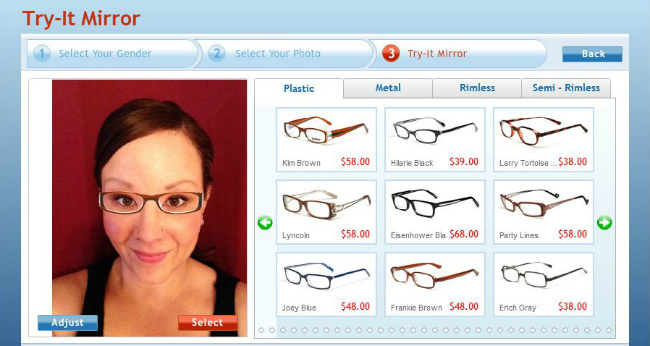 Glasses Frames Virtual Mirror : Buy Glasses Online with GlassesUSA A Night Owl Blog