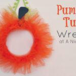 Tulle Pumpkin Wreath