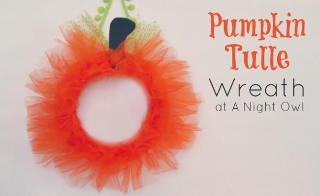 Tulle Pumpkin Wreath A Night Owl Blog