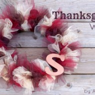 Tulle Thanksgiving Wreath