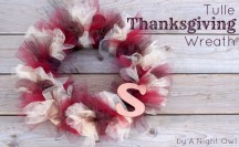 Tulle Thanksgiving Wreath Tutorial Feature @anightowlblog 650