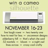 {Giveaway} A Silhouette Cameo!