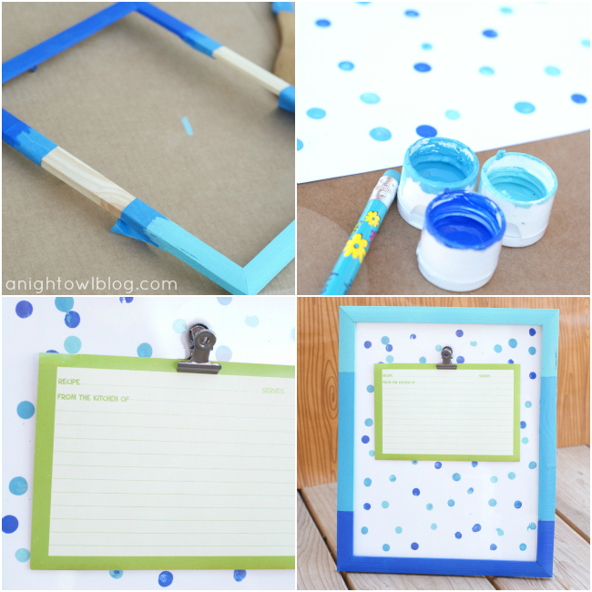 How to Make a DIY Ombre Painted Recipe Holder at @anigthowlblog