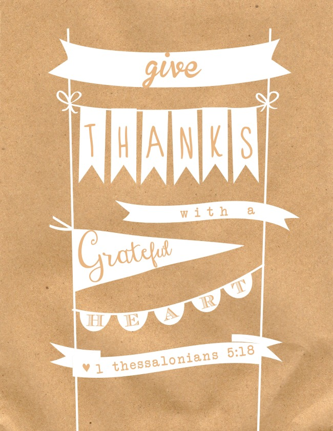 Give thanks with a Grateful Heart - FREE Thanksgiving Printable | #thanksgiving #printable