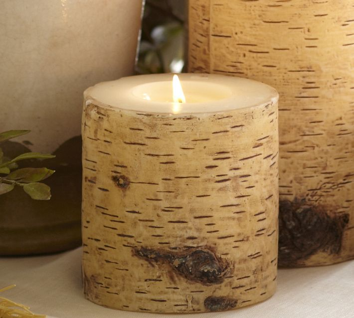 Knock-Off Pottery Barn Birch Candles - A Night Owl Blog