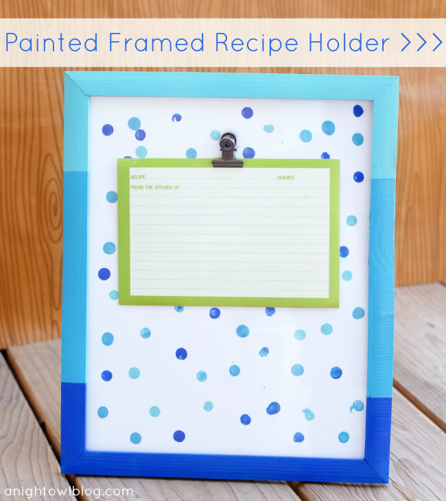 DIY Ombre Painted Recipe Holder at @anightowlblog